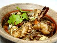 Baked Clay Seafood Pot